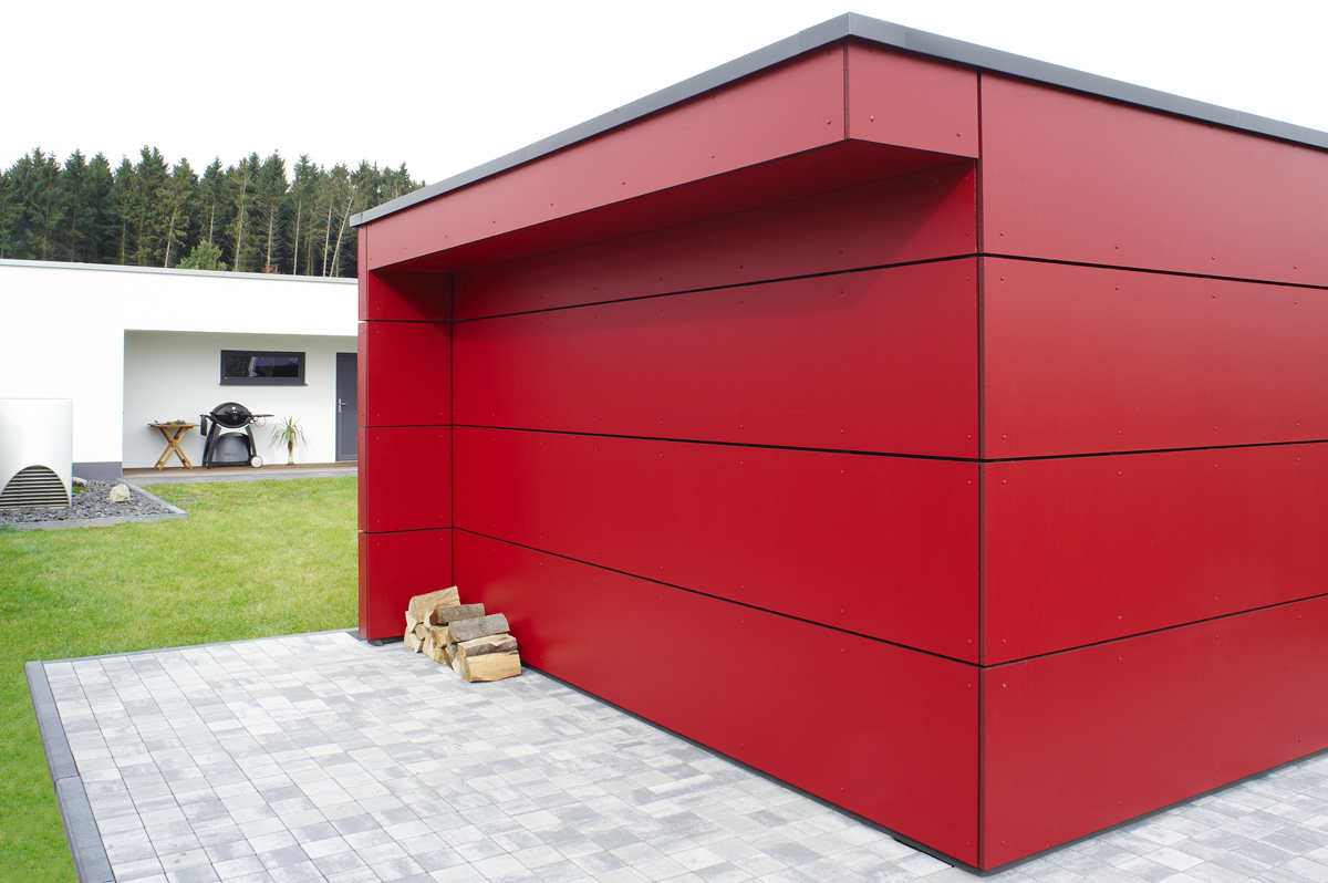 Design gartenhaus classic das flachdach gartenhaus - Gartenhaus mit holzlager ...