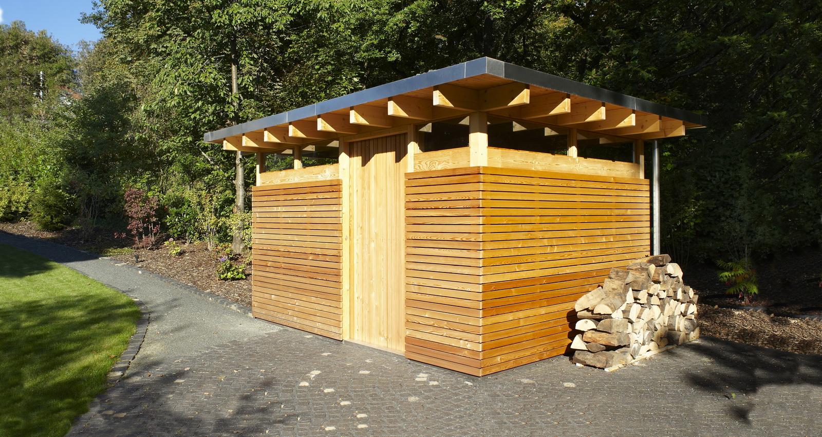 Design Gartenhaus Classic - das Flachdach Gartenhaus ...