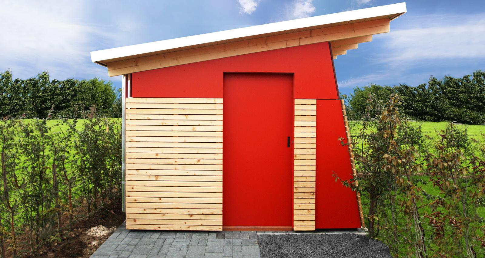 Gartenhaus fun design in schieflage for Designer gartenhaus